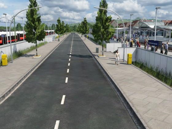 Straße durch Bahnhof - Proof of concept