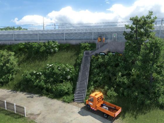 Unterhaltarbeiten an der Streckenlogistik