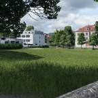 Schulhaus Wiese mit GMS und ROGA Turnhalle.
