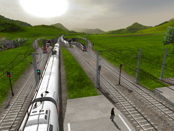 Gleisvorfeld von Ilford mit viel Verkehr