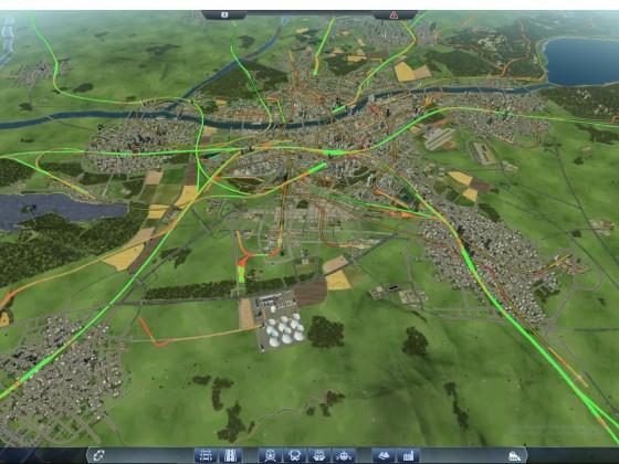 Bahnnetz in der Metropole