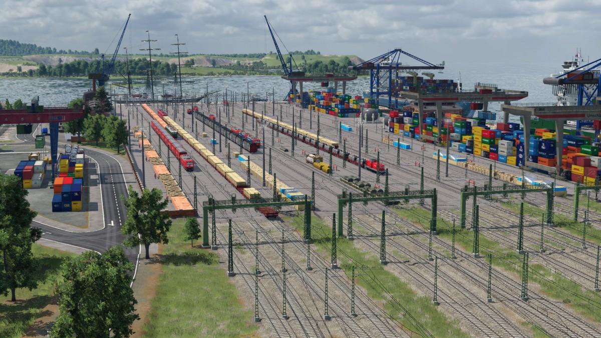 Frachthafen in Aktion