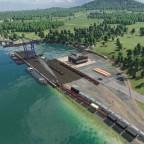 Hafenanlage von oben