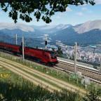 Railjet on the mountain pass