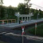 Modernisierte Nebenbahn im zurückgebautem Bahnhof