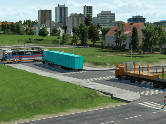 Green Cargo Rc crossing