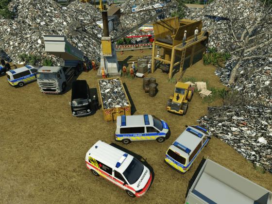 Drohennaufnahme des Tatorts