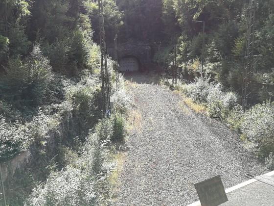 Stillgelegter Schwarzkopftunnel bei Heigenbrücken