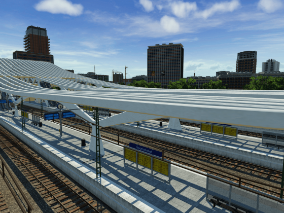 Der Hauptbahnhof von Karlsfurt