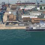Neuer Hafen Seitenansicht