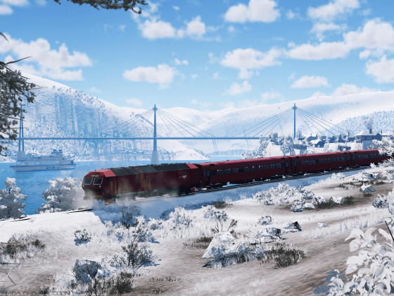 [TpF1] Di6 making its way through the snow, which occupied the tracks during night storm