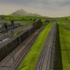 Ein-/Ausfädelung der neuen Strecke zwischen S-Bahn (Links), Strecke nach Apolda (Mitte), und Güterring (Rechts)