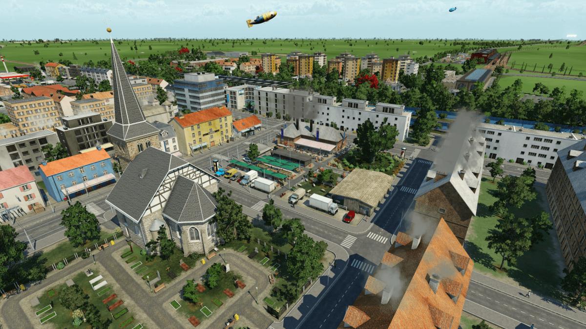 Friedhof und Marktplatz