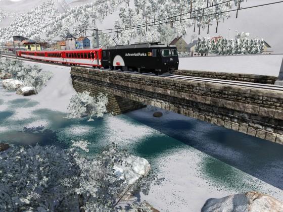 Winterzauber mit der Matterhorn Gotthard Bahn
