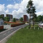 Blick in Richtung der Trabantenstadt