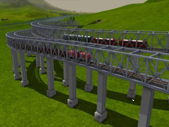 Kauschwitzer Steige mit Regionalzug und Holzlieferung
