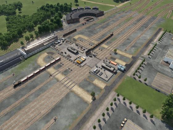 Güterbahnhof Rohbau - Umbau