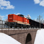 ÖBB 2048.004-2 mit kurzem Güterzug