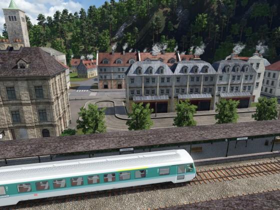 Erster Blick vom Bahnsteig aus