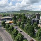 Blick vom Ringier park in Richtung BZZ