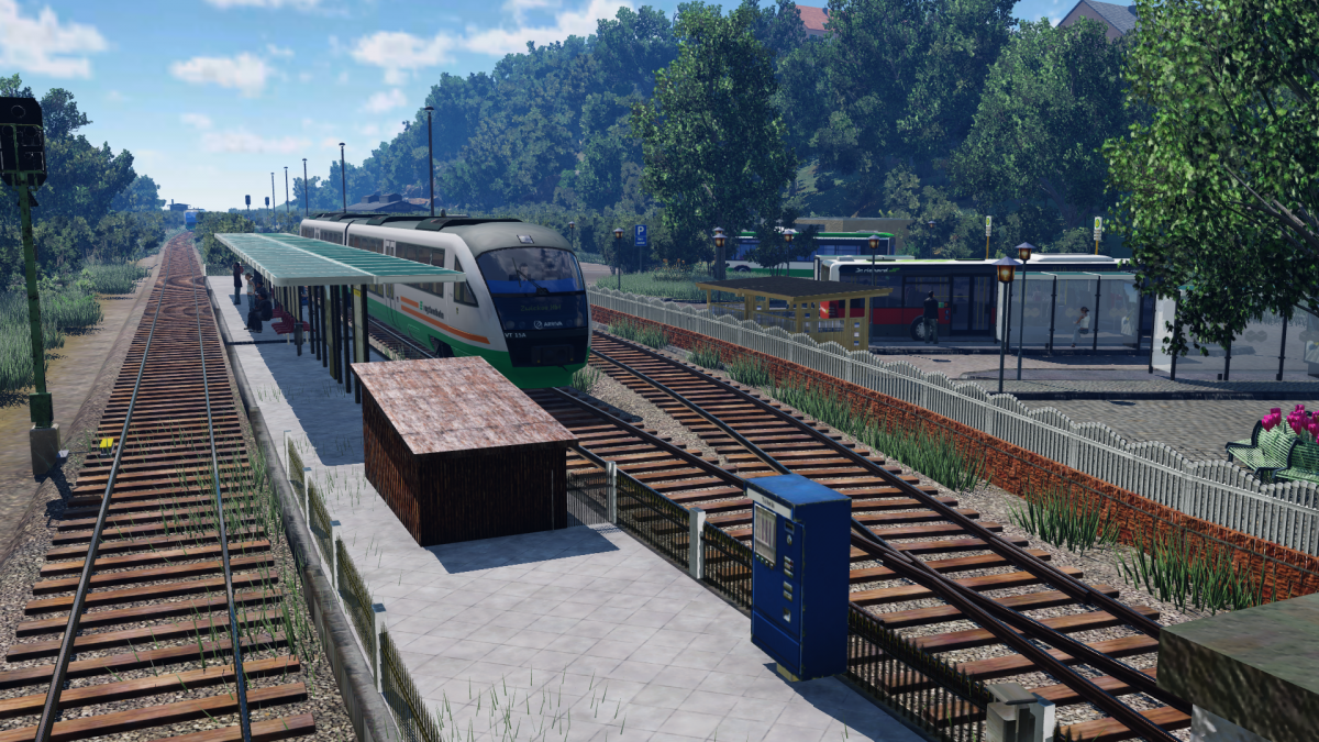 Bahnsteig Heute