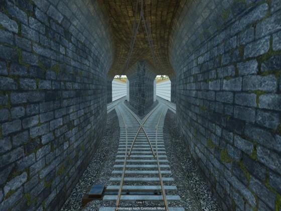Einfahrt in die neue Untergrundstation