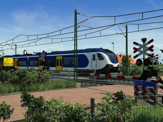 Dutch railway crossing