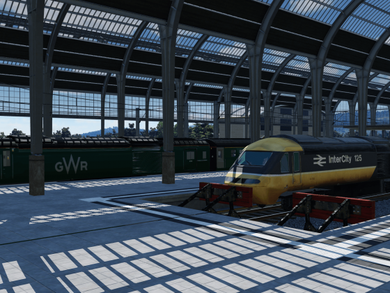 Last GWR HST InterCity 125 in Paddington
