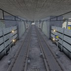 Semi Underground Station near Airport