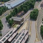 Freifeld (erstes kleines) Betriebswerk für Lokomotiven