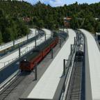 Sumoto Junction, hier trifft die elektrifizierte Vorort-Linie auf die Diesel-Nebenbahn.