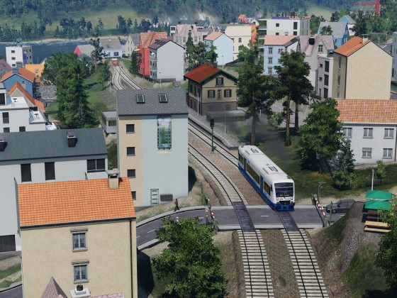 Letzte Meter vor Bahnhof Traben-Trarbach / Last meters before Traben-Trarbach station