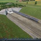euro tunnel Portal auf französischer Seite