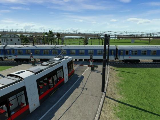 Ach ja und hier mal mit der Wiener Straßenbahn und einen IC..im Hintergrund wieder ein CD Railjet