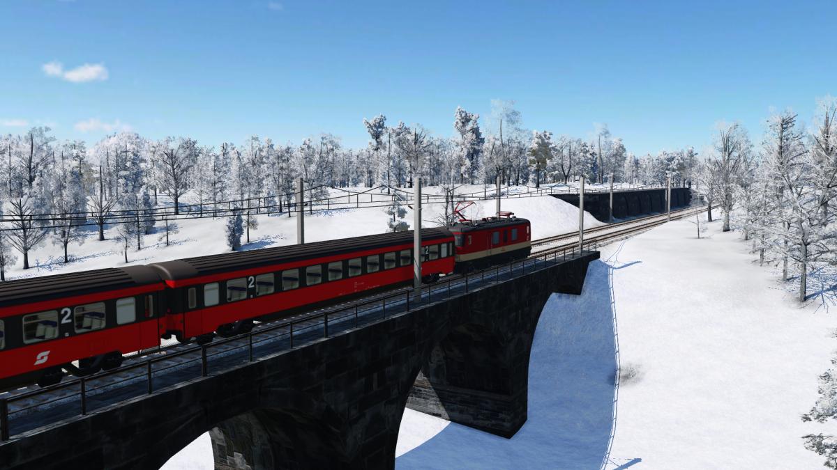 """Eine Seltenheit  passiert das """"Niederbrucken Viadukt""""! ÖBB 1146 mit Schnellzug"""