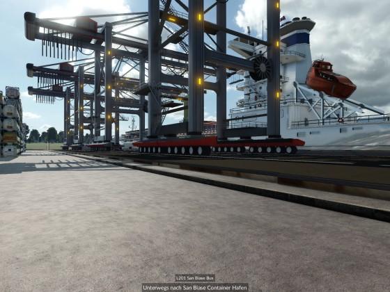 Buslinie durch den Container Hafen 3