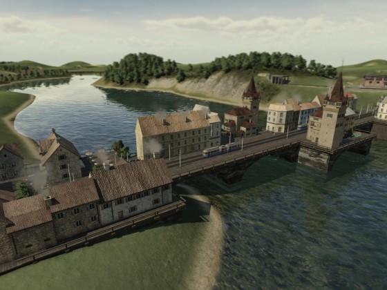 Bebaute Brücke