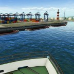 Einfahrt in den Hafen