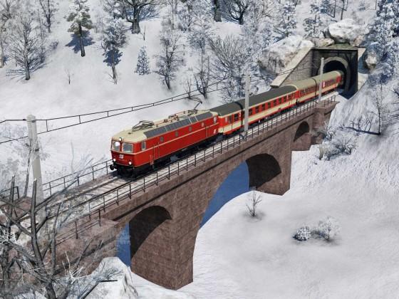 1044 mit Regionalzug fährt talwärts