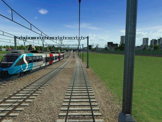 410m Doppel-railjet bei der Einfahrt in Linz Hbf (fiktiv)