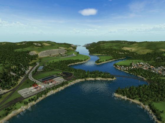 Bauanfang des Industriegebietes Inverness 2