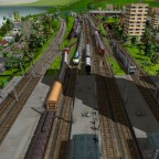 Maltby Bahnhof - Blick Richtung Vorfeld West mit BW