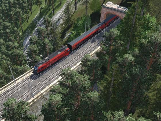 Ein Railjet am Weg Richtung Ramsau am Gutenstein