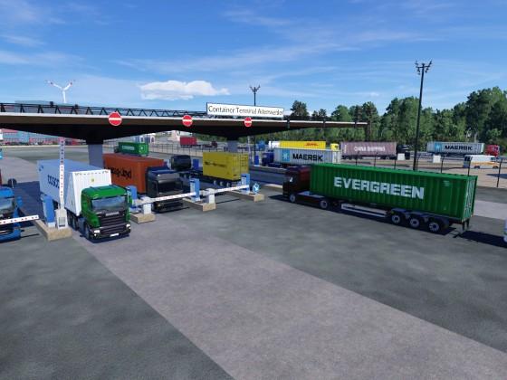 Haupteingang Containerterminal