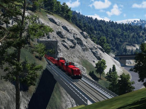 Güterverkehr in den Alpen