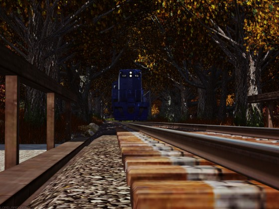 """Central of NJ"" GP7 in the autumn forest"