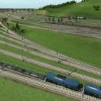 Im Vordergrund ist das Gleisnachfeld nach dem Bahnhof zu sehen....dahinter das Gleisvorfeld