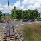 Warten am Bahnübergang