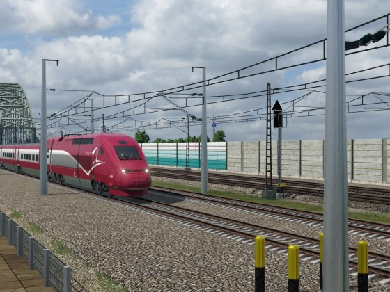 Thalys bound for Brussels on German high speed line