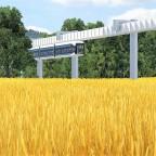 Prestigeprojekt Schwebebahn (Monorail) in Freifeld zwischen Flughafen und Messe 6/8